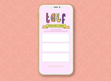 TGIF - esercizio di gratitudine settimanale